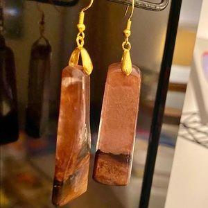 Jewelry - Handmade redone, wood earrings
